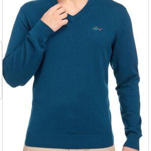 Greg Norman V-neck cotton sweater
